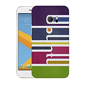 Snoogg Colorful Pattern Design Designer Protective Back Case Cover For HTC DESIRE 10 LIFESTYLE