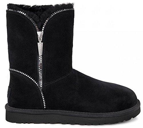 Ugg Stiefel Frauen 6 Schwarz Größe (Ugg Schuhe - Boots Florence 1013165 - Black, Größe:37)