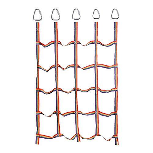 AUTOECHO Outdoor - Kletternetz mit 5 Sprossen,Gartenkletternetz für Kinder zum Spielen im Innen- und Außenbereich,57.09 72.83in