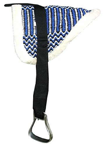 Bareback Pad Memphis komplettes Set Pony SHETTY Farbe: dunkelblau Reitpad Sattelkissen auch für Holzpferde geeignet