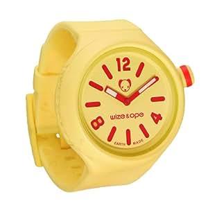 Wize & Ope Unisex-Armbanduhr Analog Plastik gelb JB-SH-6