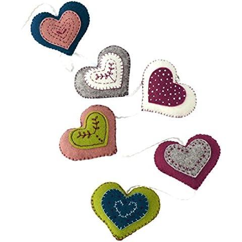 Diseño de corazones de fieltro Corinne Lapierre Vintage Kit de decoración de patrones de costura