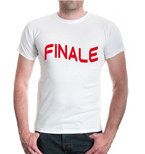 buXsbaum® T-Shirt Finale White-Red