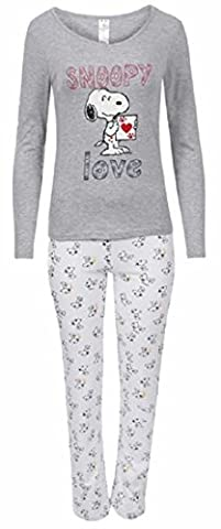 Womens Loungewear Set Snoopy Mickey Mouse Print Pyjama Top Cotton