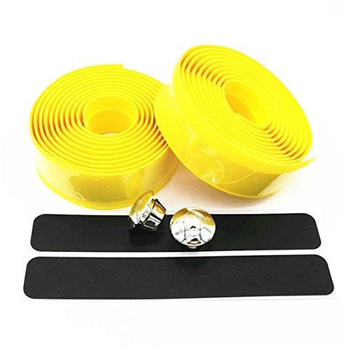 ECYC® Colorful Fahrradgriff Gürtel Fahrrad Lenkerband Wrap +2 Bar, Gelb