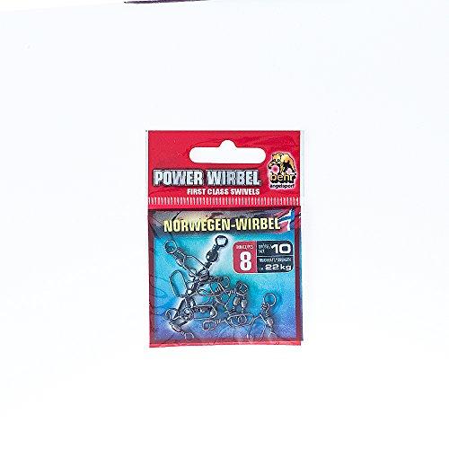 MagiDeal 10 St/ück Angeln Wirbel aus Messing Steckverbinder f/ür Trolling Downriggers Salzwasser Angeln