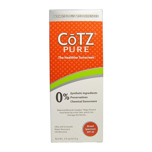 Cotz Skin Care Cotz Pure The Healthier Water Resistant Sunscreen, Spf 30 - 3 Oz, 2 Pack