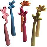 6er Set farbige Cartoon Finger Hand Daumen Kugelschreiber