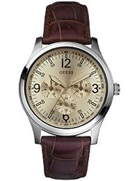 Guess Herren-Armbanduhr XL Analog Leder W95133G2