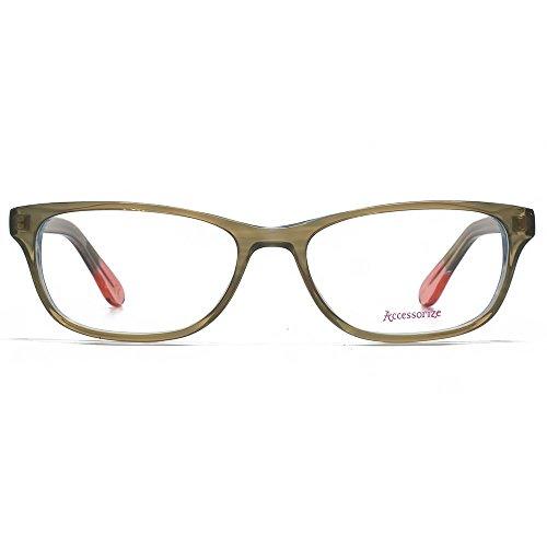 Accessorize Lunettes Rectangle Glam en marron ACS005-BRN clear