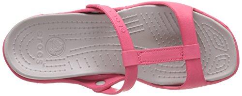 Crocs Cleo III Damen Sandalen Pink (Poppy/Platinum)
