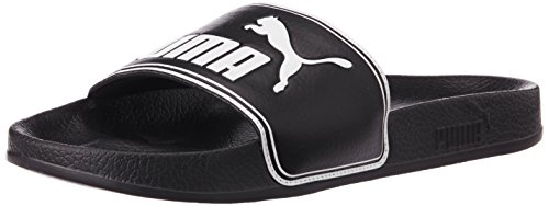 Puma Leadcat, Chaussures de Plage & Piscine mixte adulte, Noir (Black-white 01), 40.5 EU