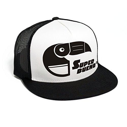 DEPARTED Herren Mesh Trucker Hat mit Print/Aufdruck - Snapback Cap - No. 43, Black/White