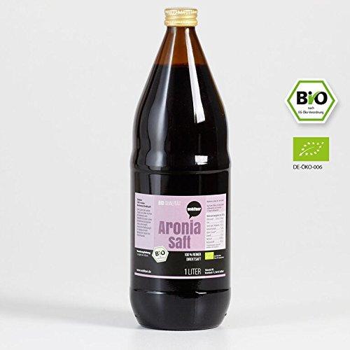 6 Flaschen Bio Aroniasaft 100% Direktsaft - 1l Aronia