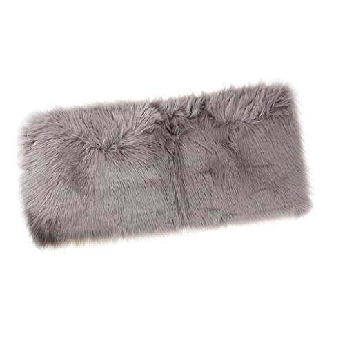 Homyl Weiche Künstliche Schaffell Teppich Bettvorleger Sofa Matte, in 12 Farben - Grau