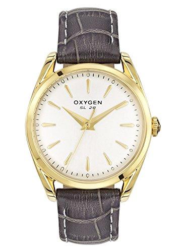 Oxygen–Reloj Acero Inoxidable–Esfera plata translúcido–Correa de piel gris–Sport 28Hermine l-s-her-28