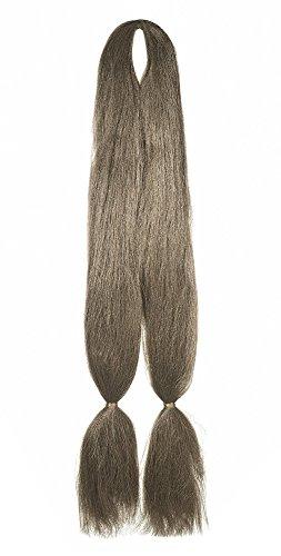 American Dream Double Tresse Kanekelon pour Extensions de Cheveux/Dreadlocks/Coiffures Créatives 10 Châtain Cendré Moyen