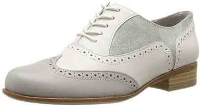 Clarks Hamble Oak 203589334 Damen Schnürhalbschuhe, Weiß (White Combi Lea), EU 37