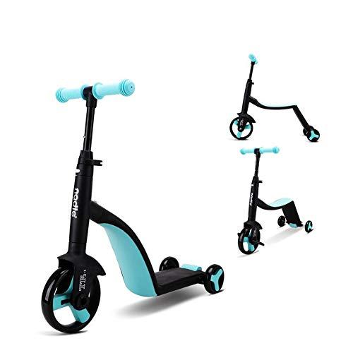 LAGERUNG Kinder Roller Balance Auto Dreirad DREI-In-One-Kinderwagen Roller,Blue