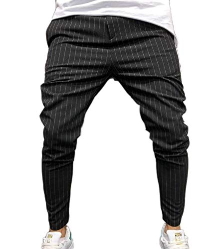Hibasing moda lato strisce slim fit pantaloni casual uomini pantaloni lunghi