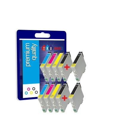 Preisvergleich Produktbild 10Premium Qualität 100% Kompatible Druckerpatronen für Epson T0715Multipack Stylus SX100 SX105 SX115 SX110 SX200 SX205 SX210 SX215 SX400 SX405 SX410 SX415 SX510W SX515W SX600FW SX605 D78 D92 D120 DX4000 DX4050 DX4400 DX4450 DX5000 DX5050 DX6000 DX6050 DX7000F DX7400 DX7450 DX8400 DX8450 DX9400F S20 S21 Office B40W BX300F BX310FN BX600FW BX610FW Kompatibel mit TO711 TO712 TO713 TO714 TO715 T0711 T0712 T0713 T0714 TO891 TO892 TO893 TO894 TO896Multipack (4 schwarz + 2Cyan + 2Magenta + 2gelb)