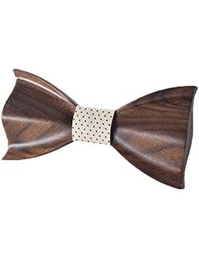 KOOWI Corbata de Madera Hecha a Mano del Lazo de Madera de Los Hombres Creativos Handcrafted para la Boda o el...