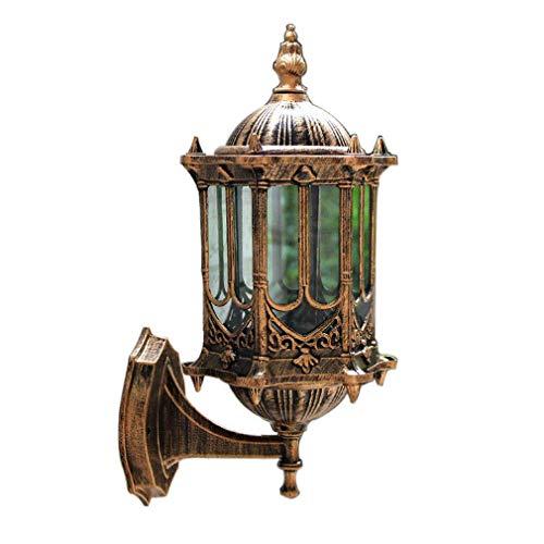 Wasserdichter Wandleuchte, Retro Innenbe und Außen Wand-Beleuchtung, Antik Rustikal Stil Wandlampe,...