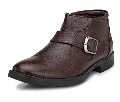 Mactree Men's Premium PU Outdoor Boots 2814 (6 UK, Brown)