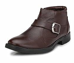 Mactree Mens Genuine Leather Outdoor Boots 2814 (9 UK, Brown)