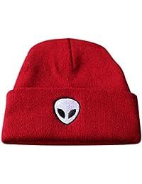 Yijinstyle Tejer Calentar Sombreros Gorras Beanie De Punto Alien Unisex  Ocio Sombrero De Pescador (56 23170b605ea