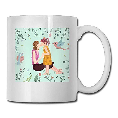 Our first mother's day mommy and me personalized tea mugs - add pictures, logo, or text to our custom mugs