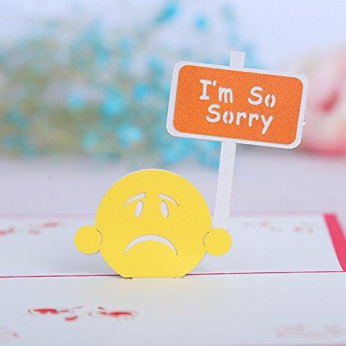 PANGUN 3D Pop Up I 'M So Sorry Gruß Entschuldigung Karte Party Grußkarte