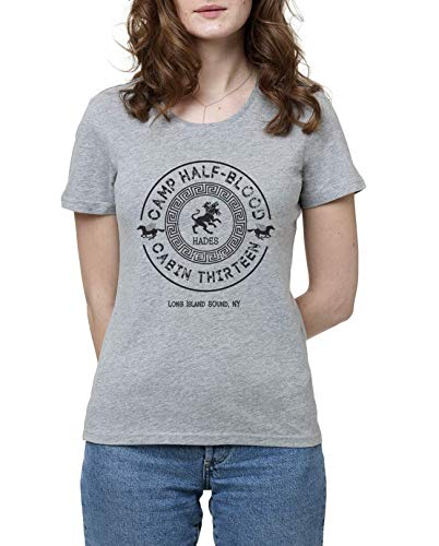 Cabin Thirteen - Hades - Percy Jackson - Camp Half-Blood Damen Grau T-Shirt | Women\'s Grey T-Shirt Tshirt T Shirt