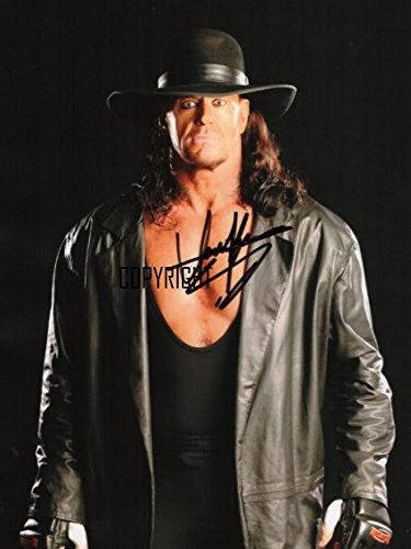 The Undertaker wrestling fotografia firmato edizione limitata + stampato Autograph
