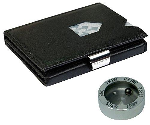 - Kartenetui mit integriertem RFID-Schutz - unbefugtes Auslesen persönlicher Daten auf modernen Kreditkarten und Ausweisen wird durch eine nanofeine Metallschicht zuverlässig verhindert - 6 Fächer für insgesamt 12 Kreditkarten - Großes Fach für Rechn...
