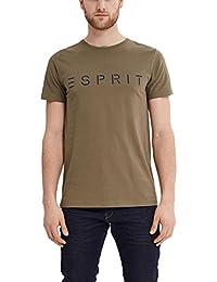 Esprit 027ee2k043-Logo Print, T-Shirt Homme