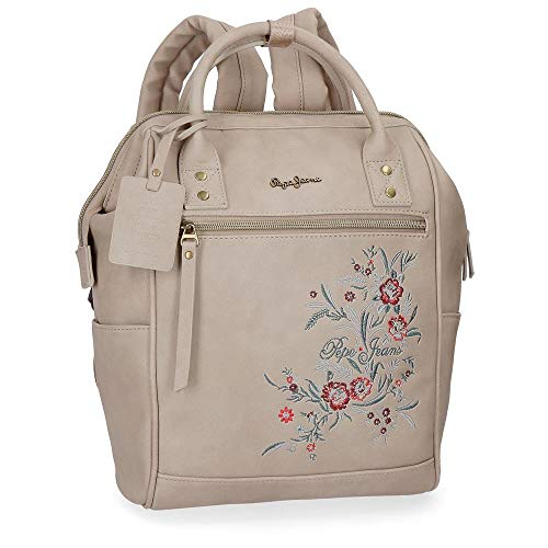 Pepe Jeans Lala Beige Casual Backpack