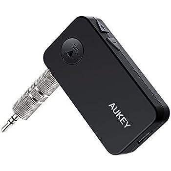 AUKEY Récepteur Bluetooth 4.1 Kit Voiture, Mains Libres, Adaptateur Sans Fil avec Sortie Stéréo 3,5mm pour Home / Car Audio Système
