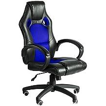 Regalos Miguel - Sillas Gaming - Silla Pro - Azul y Negro