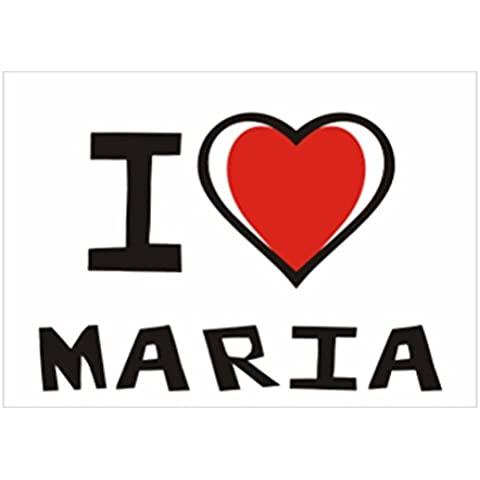 Teeburon I love Maria Pack de 4 Pegatinas