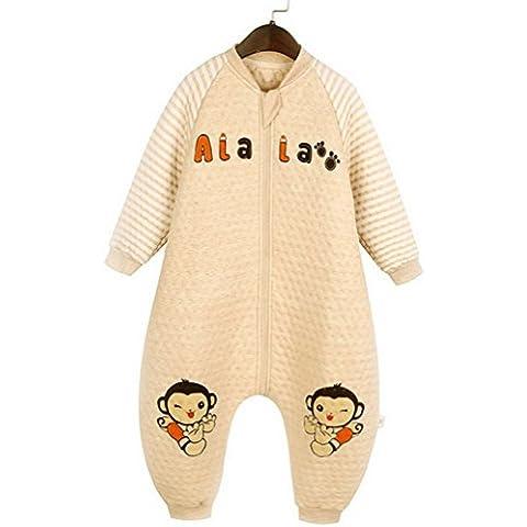 Happy Cherry Bolsa de Dormir de Algodón Mono Pijama de Mangas Largas Saco de Dormir para Bebés Niños Niñas Otoño Invierno Sleeping