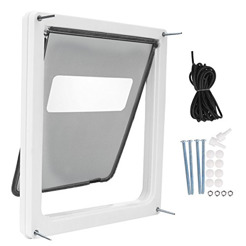 cooshional-portable-cat-flap-lockable-telescoping-frame-dual-entry-pet-dogs-doorwhite