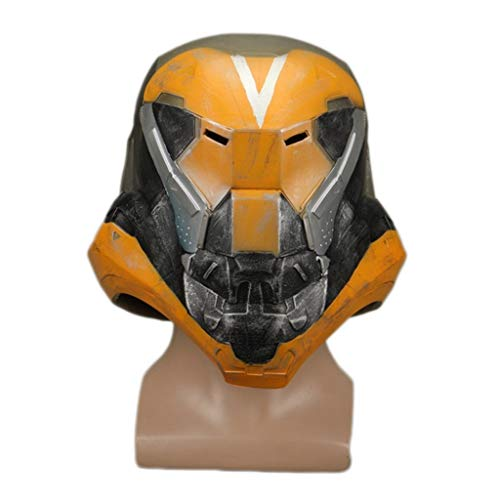 nger Sturm Nummer Helm Halloween Cosplay Requisiten,Yellow-OneSize ()