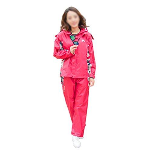 RUIX Regenmantel Regenhose Anzug Fashion Riding Adult Outdoor Wandern Regenjacke,L