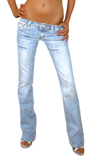 Bestyledberlin Damen Jeanshosen, Low Rise Damenjeans, Hüftjeans, Hosen j37a 42/XL (Italienische Designer-jeans)