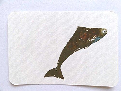 Unikat Postkarte Fisch A6