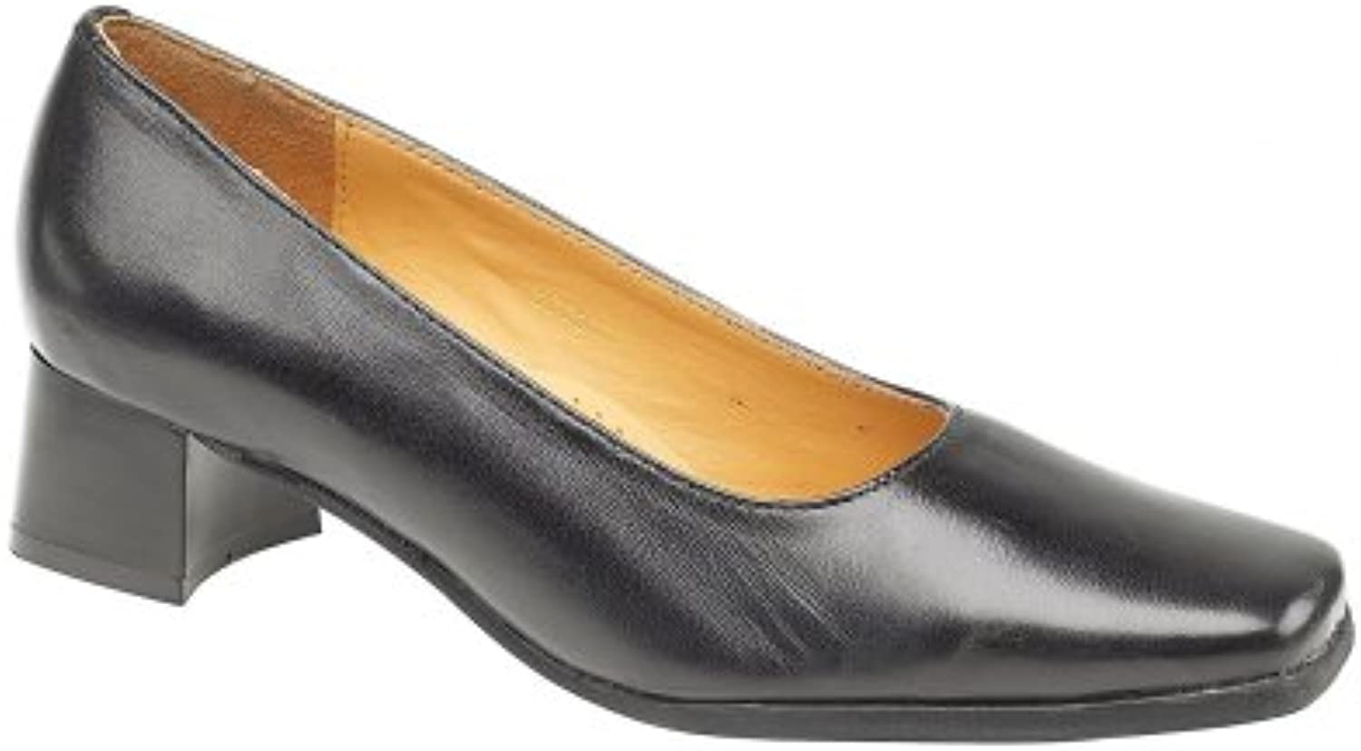 Amblers Slip-On Leather Lined Womens Shoes - Navy - Size 2 2.5