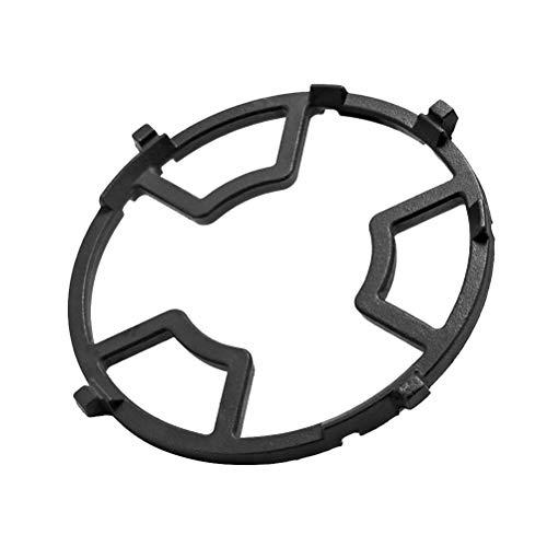 BESTONZON Gaskochfeld Guss Wok Stützring Eisen Herd Rack Universal Pan Unterstützung für Gasherd Herd (schwarz) (Gasherd Wok-ring)