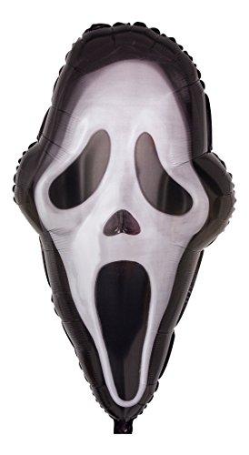 Ballongruesse - Helium Ballon Scream Maske - 71cm Lieferung heliumgefüllt im Karton - Halloween Geschenk Deko