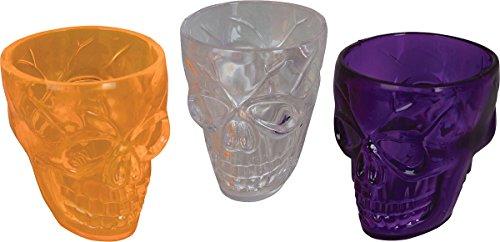 Elegante Party Dekor Halloween Geschirr Totenkopf Dosen Trinkgläser 3er Pack